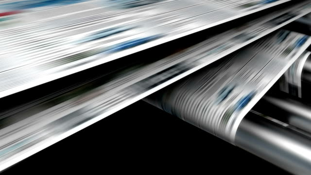 stockvideo's en b-roll-footage met magazine or newspaper printing. - krant
