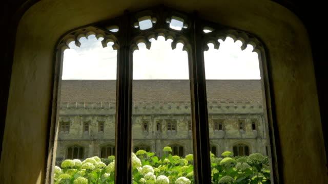 magdalen college,oxford,cloisters - oxford universität stock-videos und b-roll-filmmaterial