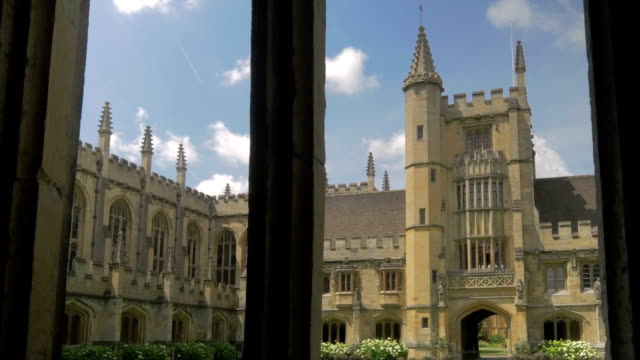 magdalen college,oxford,cloisters - oxford england stock videos & royalty-free footage