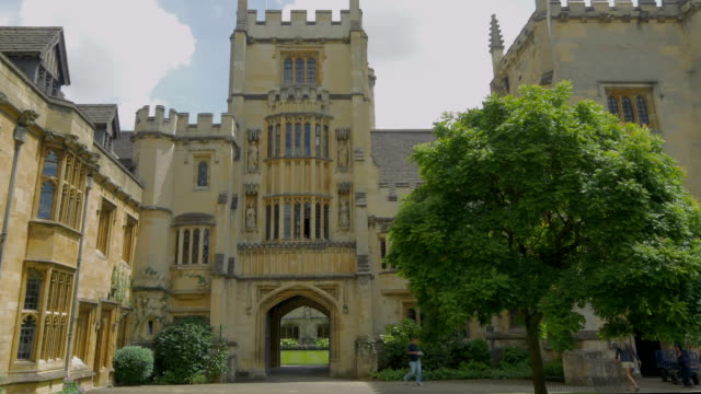 magdalen college,oxford,tourists - oxford england stock videos & royalty-free footage