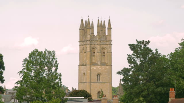 magdalen college,oxford,tower,cu - cambridge university stock videos and b-roll footage