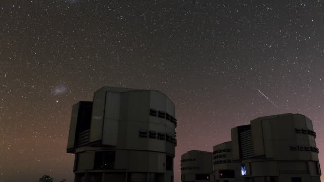 magellanic clouds and very large telescope - observatory stock videos & royalty-free footage