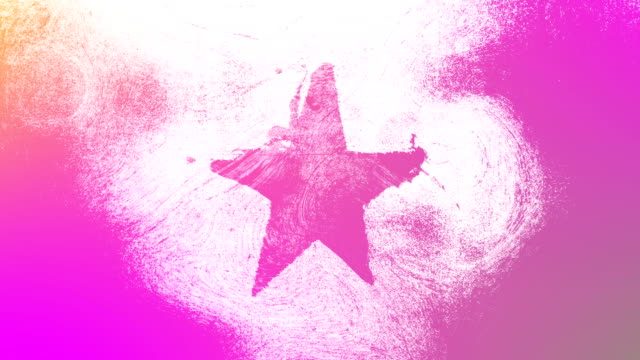 magenta grunge star shape symbol on a high contrasted grungy and dirty, distressed and smudged wall 4k video background with swirls street style for the concepts of popularity, celebrities, fame, hollywood, reputation, glory, transitions and titles. - magenta stock videos & royalty-free footage