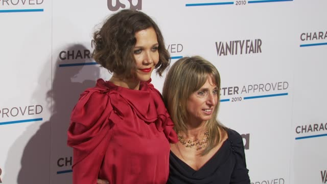 Maggie Gyllenhaal and Bonnie Hammer at the 2nd Annual Character Approved Awards Cocktail Reception at New York NY