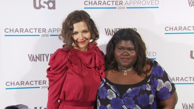 Maggie Gyllenhaal and Gabourey Sidibe at the 2nd Annual Character Approved Awards Cocktail Reception at New York NY