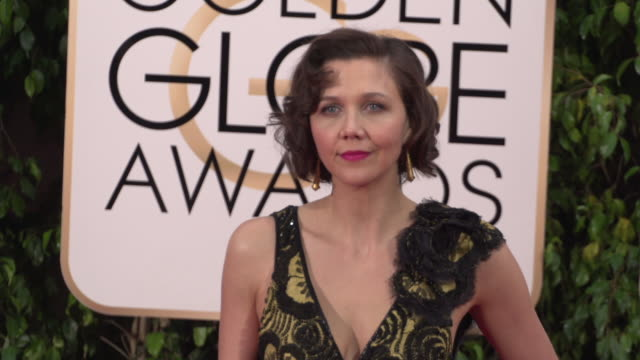 Maggie Gyllenhaal at 73rd Annual Golden Globe Awards Arrivals at The Beverly Hilton Hotel on January 10 2016 in Beverly Hills California 4K