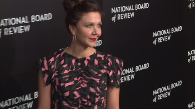 maggie gyllenhaal at national board of review gala at cipriani 42nd street on january 04 2017 in new york city - cipriani manhattan stock videos & royalty-free footage