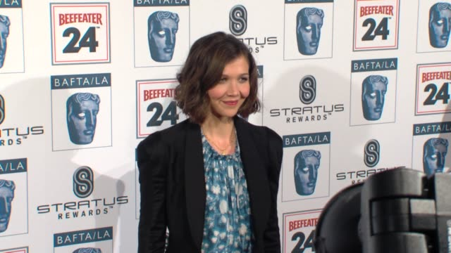 maggie gyllenhaal at the bafta la's 16th annual awards season tea party at beverly hills ca - bafta la tea party stock videos and b-roll footage