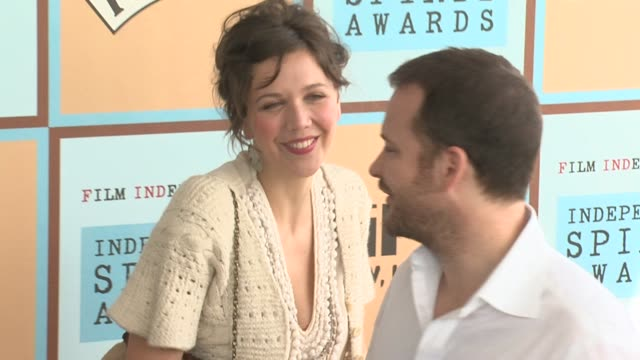 maggie gyllenhaal at the the 21st annual ifp independent spirit awards in santa monica california on march 4 2006 - ifp independent spirit awards stock videos and b-roll footage