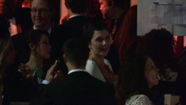 maggie gyllenhaal exchanges greetings with fans departing the sag awards after party at the shrine auditorium in los angeles celebrity sightings in... - shrine auditorium stock videos and b-roll footage