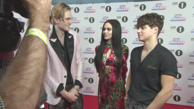 Maggie Lindemann Tristan Evans Brad Simpson at Radio 1's Teen Awards at SSE Arena on October 22 2017 in London England