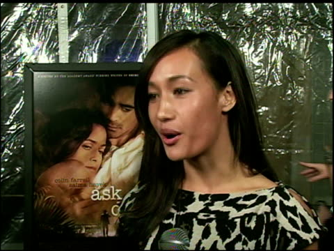 maggie q on her role in mission impossible 3 what it was like working with tom cruise and on her long distance relationship at the 'ask the dust' los... - long distance relationship stock videos & royalty-free footage