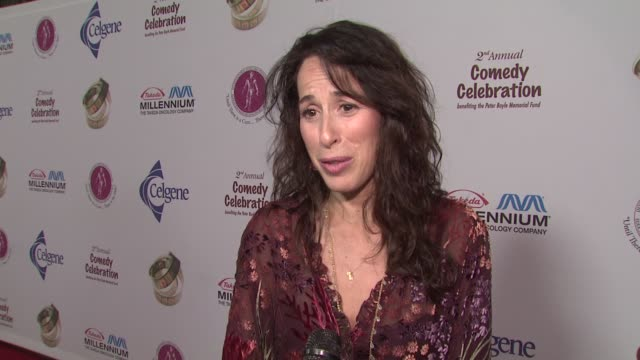 maggie wheeler on what the evening means to her personally, her fondest memory of peter boyle at the international myeloma foundation's 2nd annual... - peter boyle stock videos & royalty-free footage