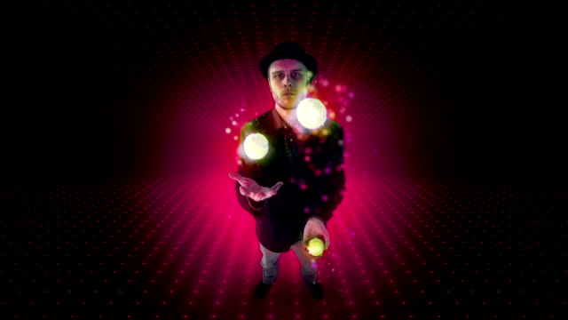 magic balls - juggler stock videos and b-roll footage