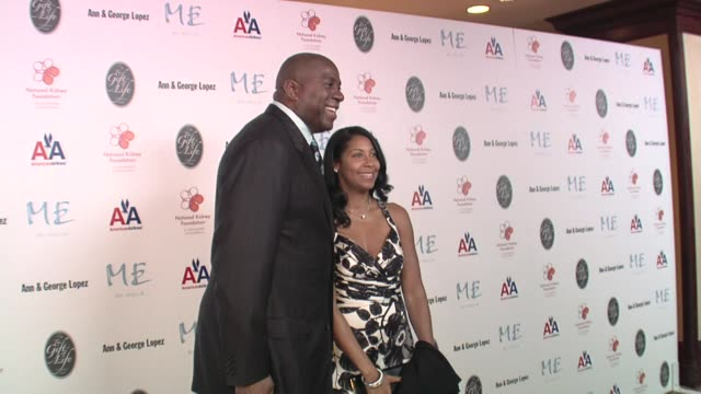 magic johnson and cookie johnson at the 29th annual the gift of life gala at the hyatt regency century plaza hotel in beverly hills, california on... - hyatt regency stock videos & royalty-free footage