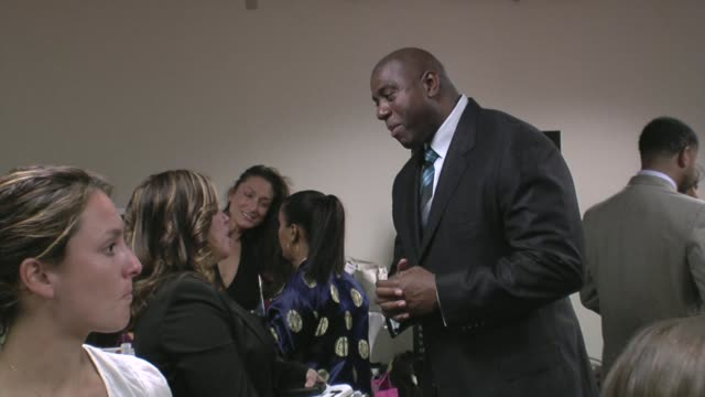 magic johnson at the 29th annual the gift of life gala at the hyatt regency century plaza hotel in beverly hills, california on may 18, 2008. - hyatt regency stock videos & royalty-free footage