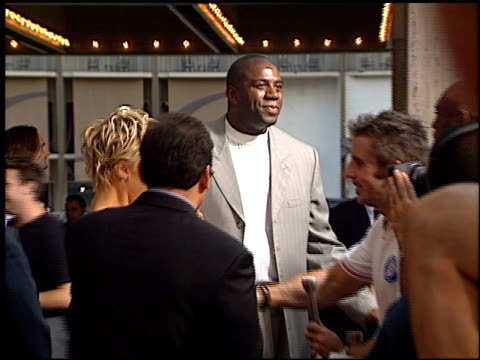 magic johnson at the 'bait' premiere on september 12 2000 - magic johnson stock videos and b-roll footage