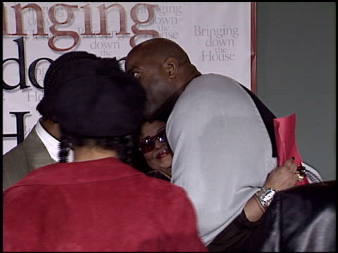 magic johnson at the 'bringing down the house' premiere at the el capitan theatre in hollywood california on march 2 2003 - magic johnson stock-videos und b-roll-filmmaterial