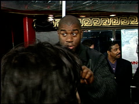 magic johnson at the 'down to earth' premiere at grauman's chinese theatre in hollywood california on february 12 2001 - magic johnson stock videos and b-roll footage