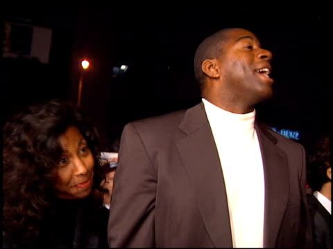 magic johnson at the 'dumb and dumber' premiere at the cinerama dome at arclight cinemas in hollywood california on december 6 1994 - magic johnson stock videos and b-roll footage