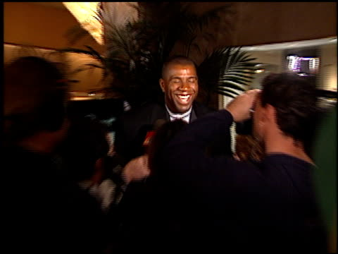 magic johnson at the evening of champions gala at the beverly hilton in beverly hills california on december 3 1998 - magic johnson stock-videos und b-roll-filmmaterial