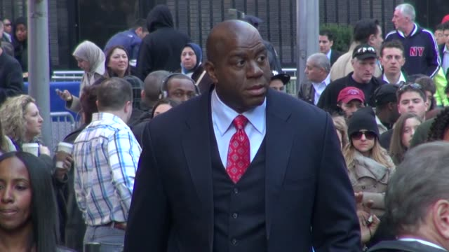 magic johnson at the 'good morning america' studio magic johnson at the 'good morning america' studio on april 09 2012 in new york new york - magic johnson stock videos and b-roll footage