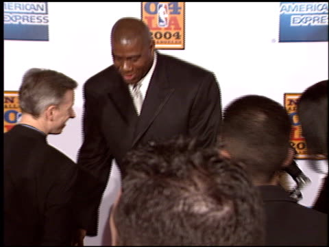 magic johnson at the magic johnson tribute at the shrine auditorium in los angeles california on february 12 2004 - magic johnson stock-videos und b-roll-filmmaterial