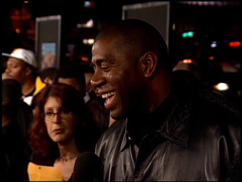 Magic Johnson at the 'Next Friday' Premiere at the Cinerama Dome at ArcLight Cinemas in Hollywood California on January 11 2000