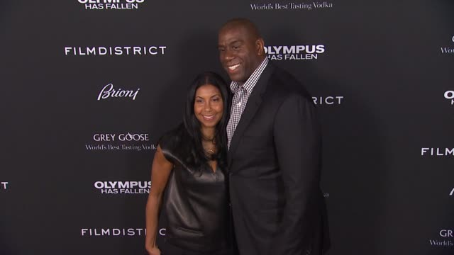 magic johnson at the 'olympus has fallen' los angeles premiere magic johnson at the 'olympus has fallen' los at the dome at arclight hollywood on... - magic johnson stock-videos und b-roll-filmmaterial