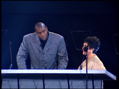 magic johnson at the passport 96 fashion show at santa monica airport in santa monica california on september 27 1996 - magic johnson stock videos and b-roll footage