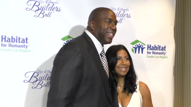 magic johnson cookie johnson at the habitat for humanity of greater los angeles builders ball at beverly wilshire four seasons hotel in beverly hills... - magic johnson stock videos and b-roll footage