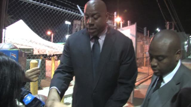 magic johnson in hollywood at the celebrity sightings in los angeles at los angeles ca - magic johnson stock-videos und b-roll-filmmaterial