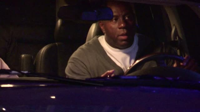 magic johnson leaving at staples center in los angeles 05/01/12 magic johnson leaving at staples center in los ang on may 01 2012 in los angeles... - staples center stock videos and b-roll footage