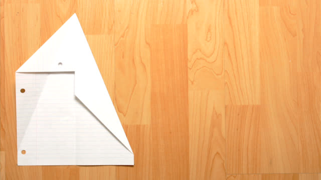 magic paper airplane - folded stock videos & royalty-free footage