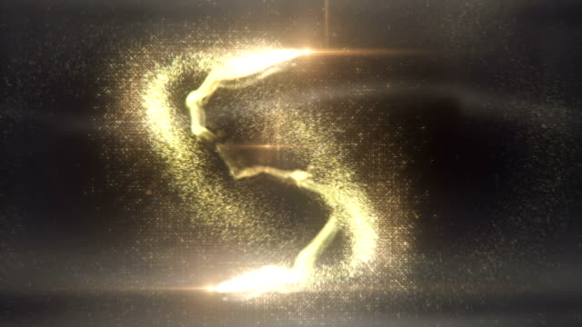 magic particles (gold) - loop - fairy stock videos & royalty-free footage