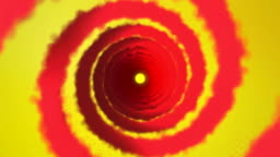 Magic portal. Digital swirl with colorful, pastel light
