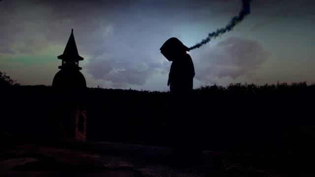 magic sorcerer casting spell
