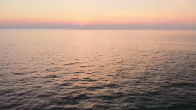 magical light from the sunset colores the sea in beautiful shades - mediterranean sea stock videos & royalty-free footage