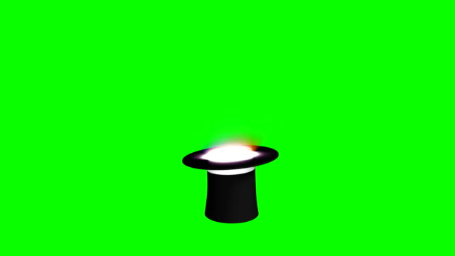 magician hat green screen separate elements - casino icon stock videos & royalty-free footage
