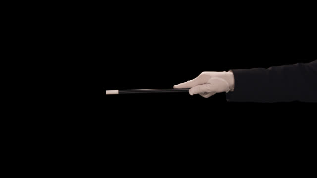 ms magician's hand waves wand � horizontal - magician stock videos & royalty-free footage