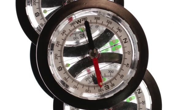 magnetic compasses - west direction stock videos & royalty-free footage
