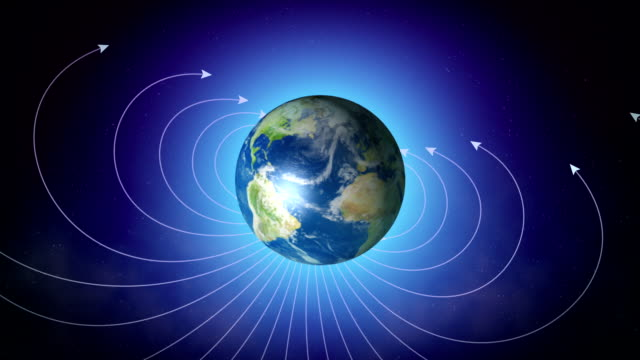 magnetic field of earth - gravitational field stock videos & royalty-free footage