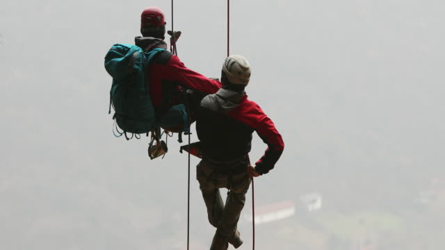 magnificent view from the high up - belaying stock videos & royalty-free footage