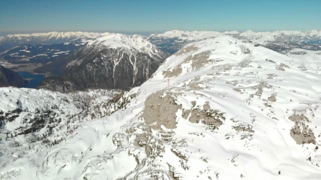 magnificent views over snowy dachstein mountains in the european alps - upper austria stock videos & royalty-free footage