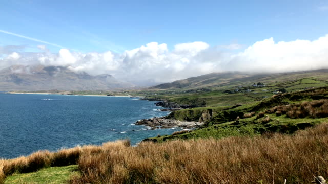 Magnificent wild coastline and the sea in Ireland near Galway