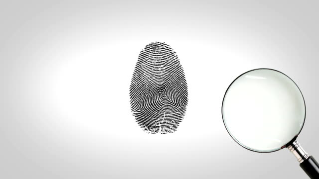 Magnifity glass searching fingerprint