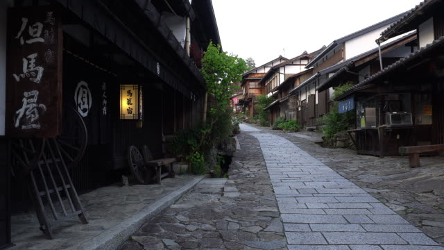 magome at nakasendo, nagano - nagano prefecture stock videos and b-roll footage