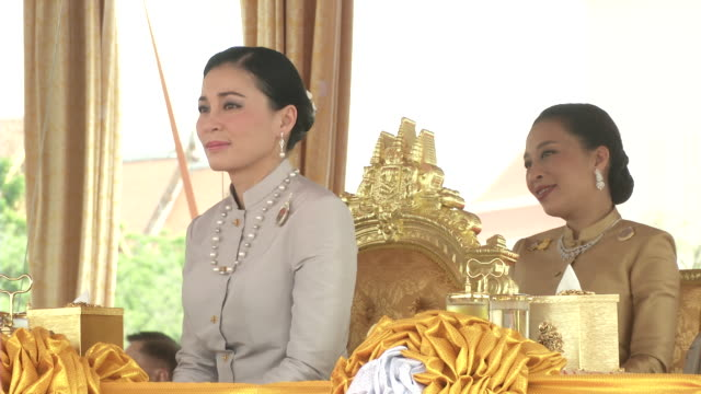 maha vajiralongkorn bodindradebayavarangkun the new king of thailand and queen suthida precide over the annual royal plowing ceremony in bangkok - king royal person stock videos & royalty-free footage