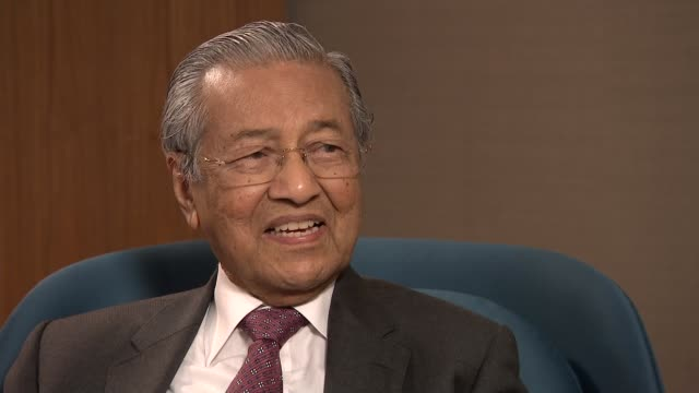 Mahathir Mohamad vows to fight corruption but causes controversy with antisemetic views ENGLAND London INT Reporter sat with Mahathir Mohamad as...
