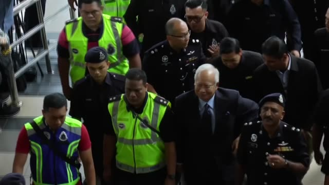 mahathir mohamad vows to fight corruption but causes controversy with antisemetic views malaysia ext former prime minister najib razak arriving at... - malaysia stock videos & royalty-free footage
